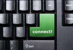 Connect key. Connect special key on a keyboard Royalty Free Stock Image