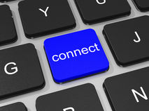 Connect key on keyboard of laptop computer. Royalty Free Stock Photo