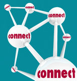 Connect - Linked Spheres in Network Stock Images