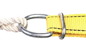 Connect through a metal ring. Stock Photography