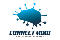 Connect mind logo. Logo design of braind and network Stock Photography