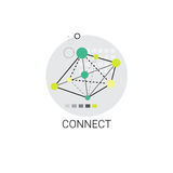 Connect Modern Internet Communication Connection Icon Royalty Free Stock Photos