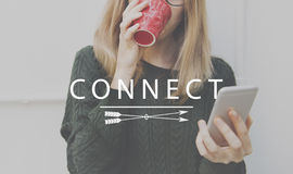 Connect Networking Links Access Interconnection Concept royalty free stock photos
