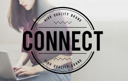 Connect Online Communication Access Chat Concept Royalty Free Stock Photos