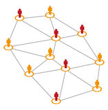 Connect People. Vector illustration of connecting people by line on a white background Stock Photography