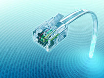 Connect Plug. Concept of internet using the Virtual 3D Cable Royalty Free Stock Image