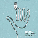 Connect portable devices concept illustration. Royalty Free Stock Photography