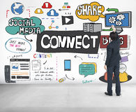 Connect Social Media Networking Communication Concept Royalty Free Stock Photo
