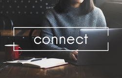 Connect Social Networking Interconnection Communication Concept. Connect Social Networking Interconnection Communication Royalty Free Stock Photo
