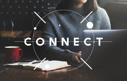 Connect Social Networking Interconnection Communication Concept Royalty Free Stock Photo