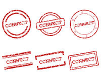 Connect stamps. Detailed and accurate illustration of connect stamps Royalty Free Stock Photos