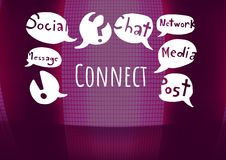 Connect text with drawings graphics Royalty Free Stock Photos