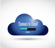Connect to cloud illustration design Stock Photo