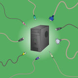Connect to PC. Vector illustration stock illustration