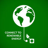 Connect to renewable energy Royalty Free Stock Photography