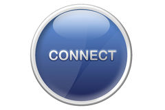 Connect web button Royalty Free Stock Image
