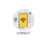 Connect Wifi Social Network Communication Connection Icon Royalty Free Stock Photography