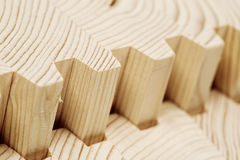 Connect wooden laminated veneer lumber Royalty Free Stock Images