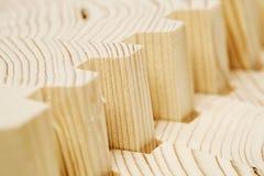 Connect wooden laminated veneer lumber Stock Photo