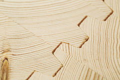 Connect wooden laminated veneer lumber Royalty Free Stock Photography