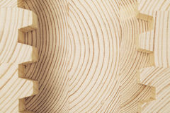 Connect wooden laminated veneer lumber Royalty Free Stock Photo