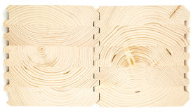 Connect wooden laminated veneer lumber Stock Photo