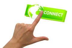 Connect with world Stock Image