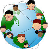 We are connected. People around the globe connected together Stock Photo