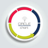 Connected Arrow circle. Infographic Element. Vector illustration Royalty Free Stock Photography