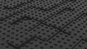 Connected black lego blocks. Abstract business background. 3D il. Connected black lego blocks. Abstract business background Stock Photos
