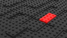 Connected black and red lego blocks. Abstract business backgroun Royalty Free Stock Photo
