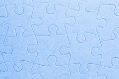 Connected blank jigsaw puzzle pieces as background Stock Image