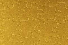 Connected blank jigsaw puzzle pieces as background Royalty Free Stock Image
