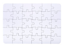Connected blank puzzle pieces Royalty Free Stock Photo