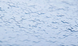 Connected blue puzzle pieces isolated Stock Photos