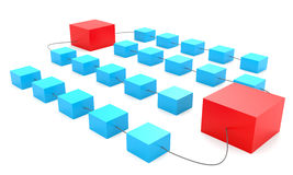 Connected boxes Royalty Free Stock Photo