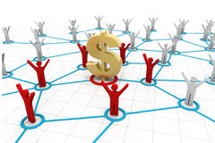 Connected Business Finance People. 3d render of Connected Business Finance People Stock Images