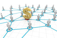 Connected Business Finance People. 3d render of Connected Business Finance People Royalty Free Stock Photography
