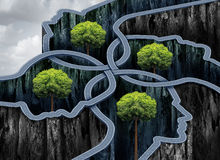 Connected Business Network Success. As roads shaped as a group of human heads as a networking concept with 3D illustration elements Royalty Free Stock Photo