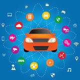 Connected Car Technologies Stock Images