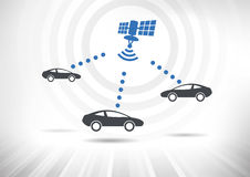Connected Cars royalty free illustration