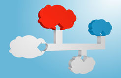 Connected 3D Clouds Abstract Vector Illustration. Royalty Free Stock Photography