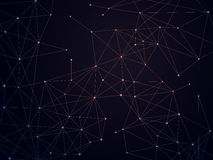 Connected Dots Background Royalty Free Stock Photos