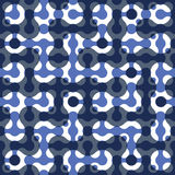 Connected dots geometric seamless pattern. Stock Photos