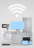 Connected electric appliances Stock Photo