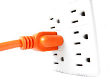 Connected electric plug Stock Photos