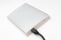 Connected external portable hard disk Stock Images