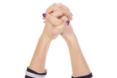 Connected hands together Royalty Free Stock Photo