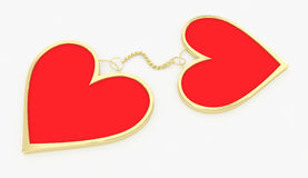Connected hearts Stock Images
