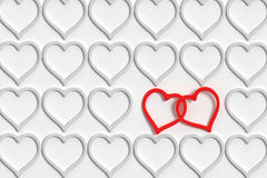 Connected hearts Royalty Free Stock Photography